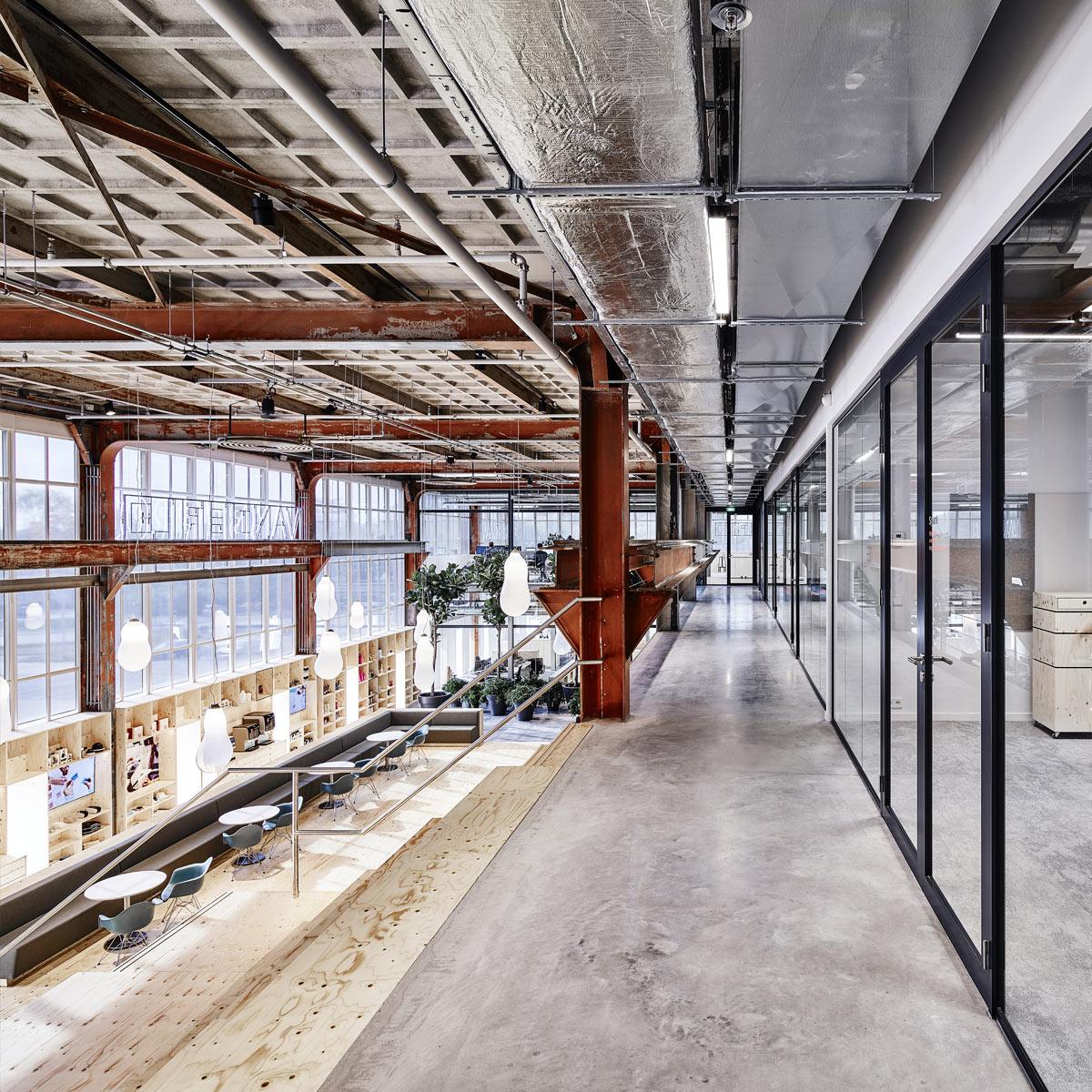 Industrieel Kantoor Interieur Plan Effect